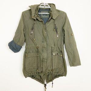 Levi's Zip & Snap Hooded Utility Jacket XL #4057